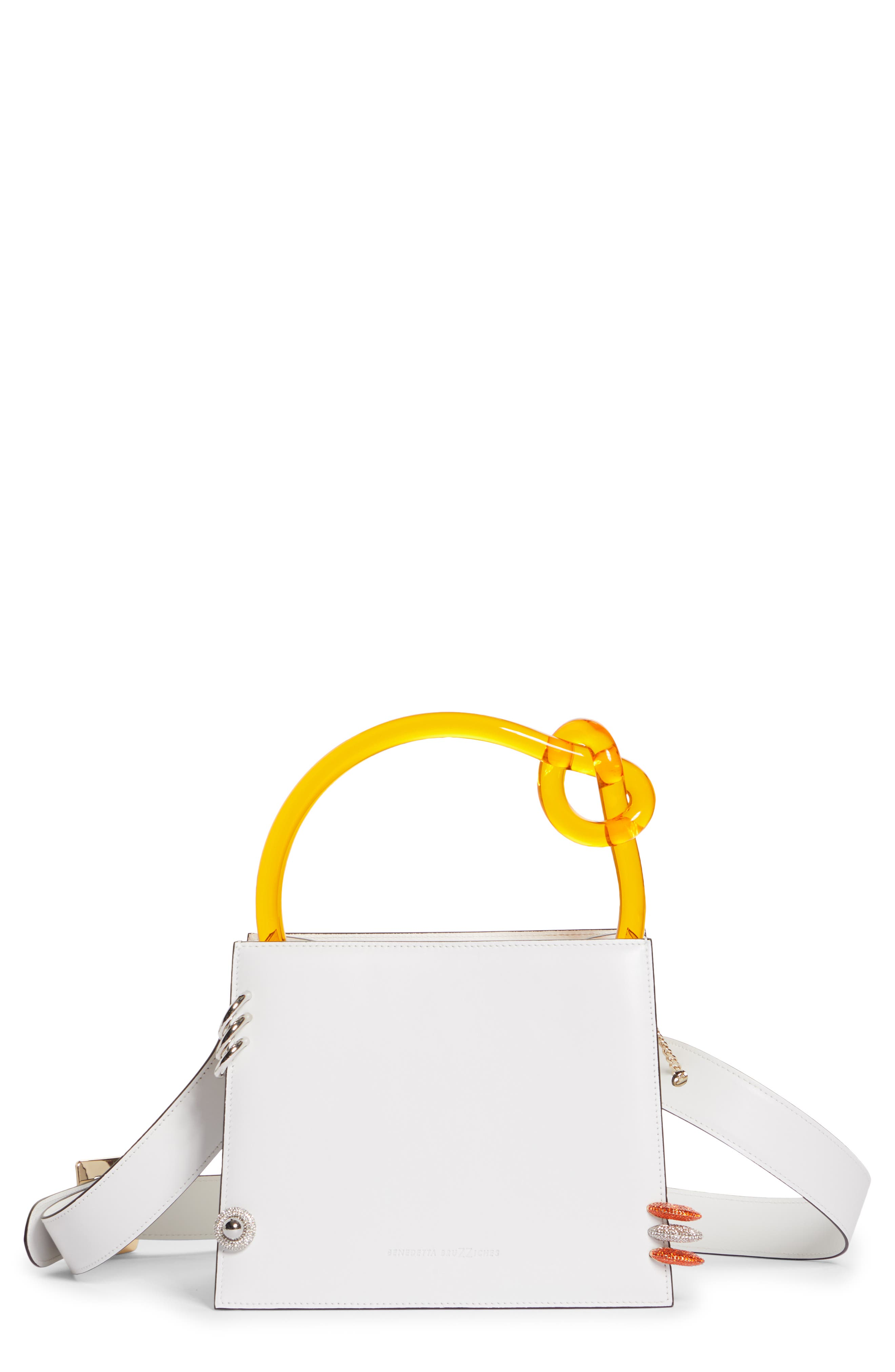 Anais Pierced Leather Top Handle Bag