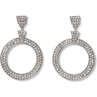 Vince Camuto Crystal Pave Door Knocker Earrings