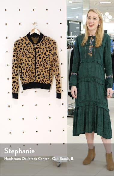 Leopard Bomber Sweater Jacket, sales video thumbnail