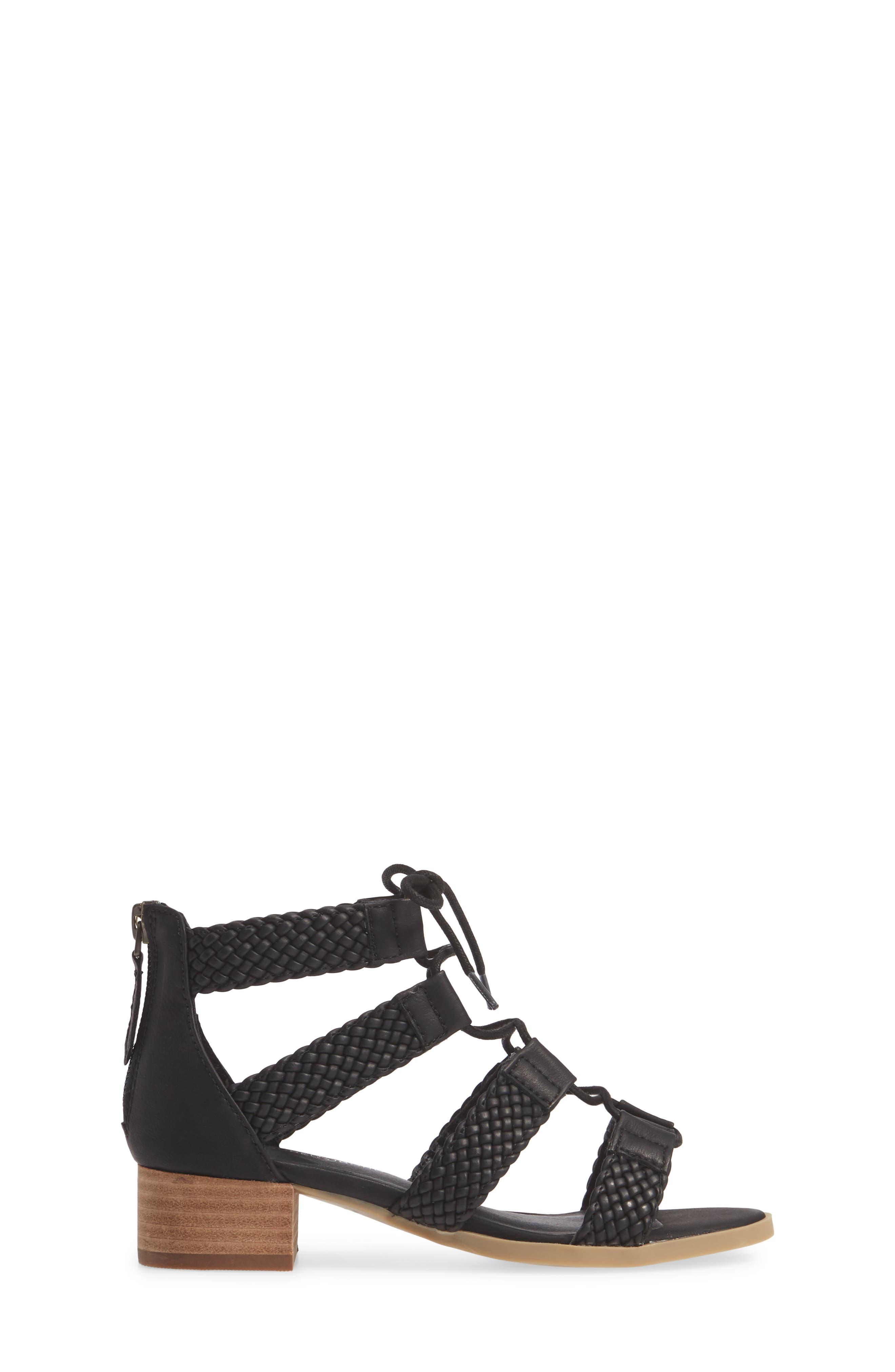 ,                             Layla Block Heel Sandal,                             Alternate thumbnail 3, color,                             BLACK FAUX LEATHER