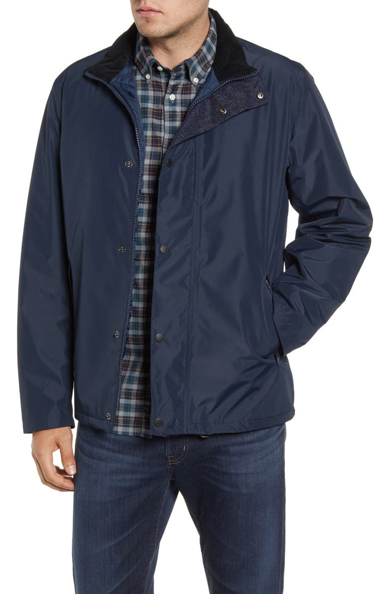 BARBOUR Borrowdale Waterproof Jacket, Main, color, NAVY