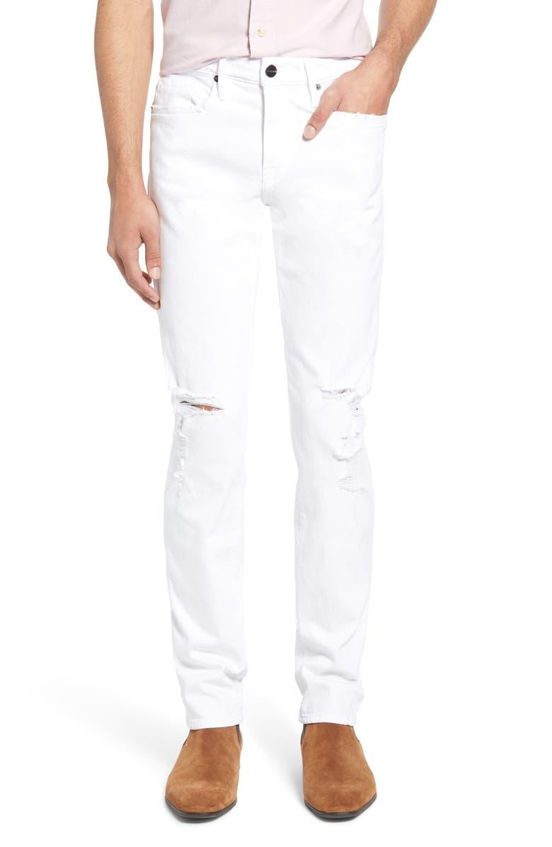 FRAME L'Homme Skinny Fit Jeans, Main, color, 120