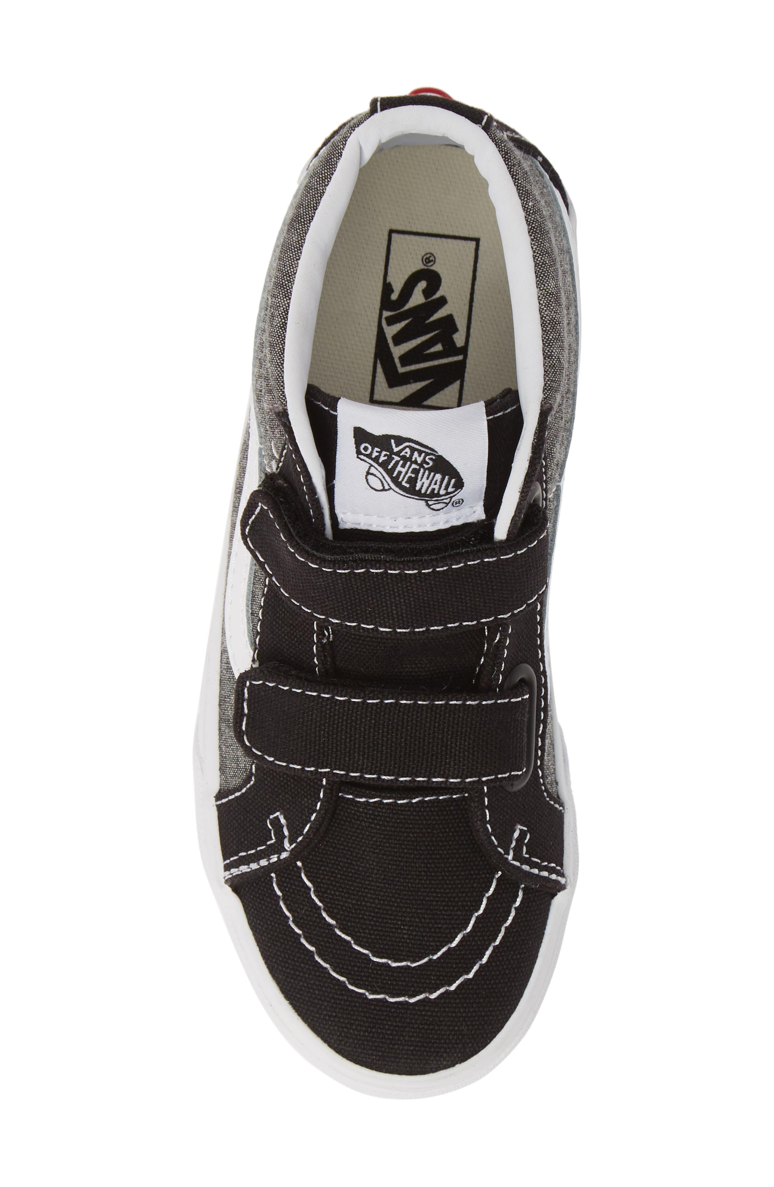 ,                             Sk8-Mid Reissue V Sneaker,                             Alternate thumbnail 5, color,                             CANVAS BLACK/ TRUE WHITE