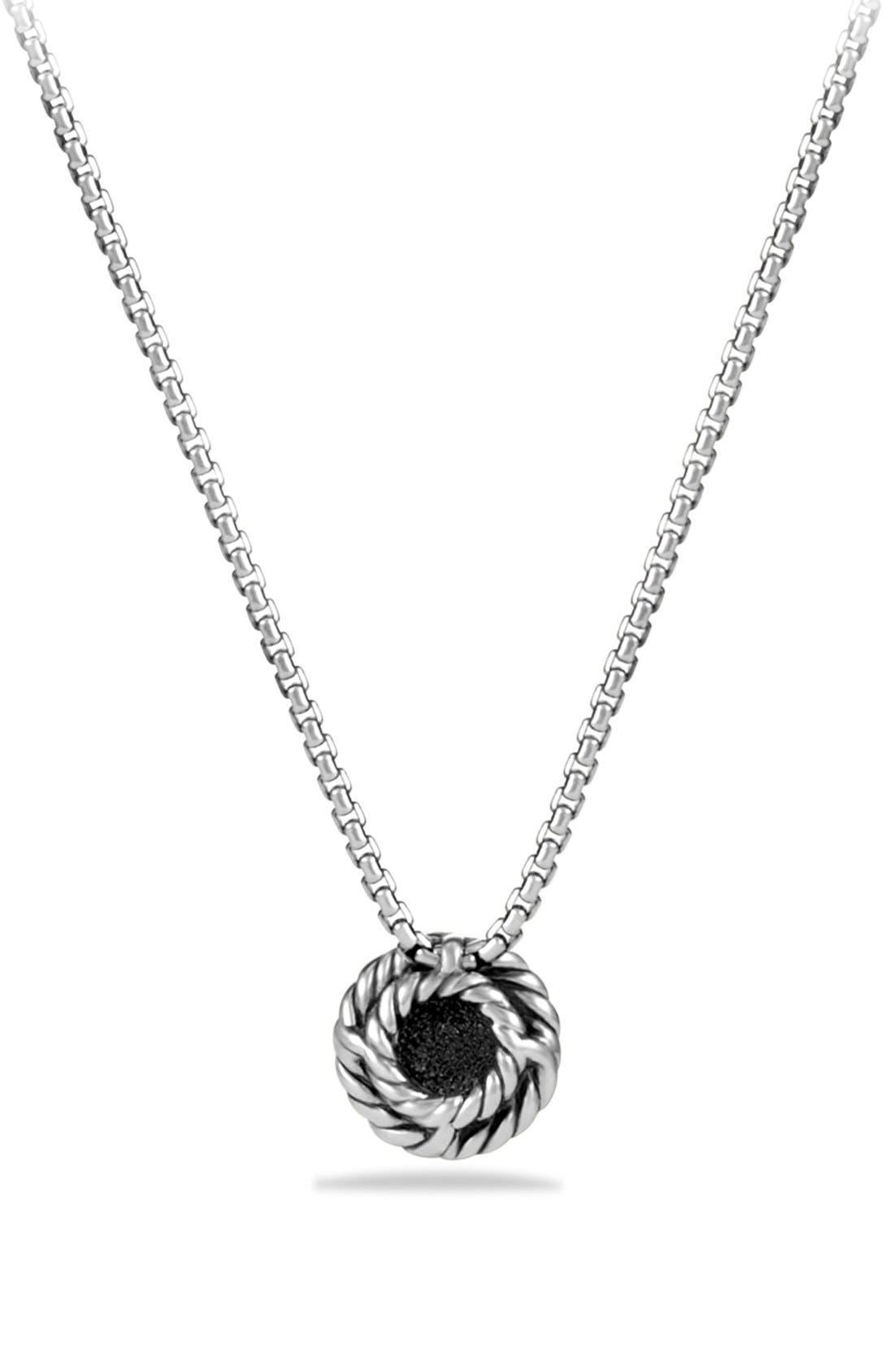 ,                             'Châtelaine' Pavé Pendant Necklace with Black Diamonds,                             Alternate thumbnail 3, color,                             DIAMOND