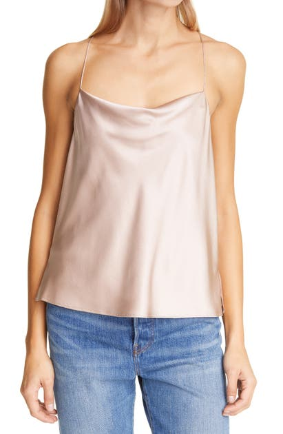 Cami Nyc THE AGGIE ROSE DUST SILK CAMISOLE