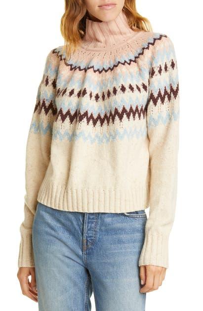 La Vie Rebecca Taylor Sweaters FAIR ISLE TURTLENECK SWEATER