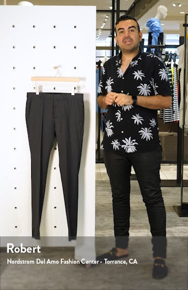 Gibson CYL Flat Front Solid Slim Fit Wool Dress Pants, sales video thumbnail