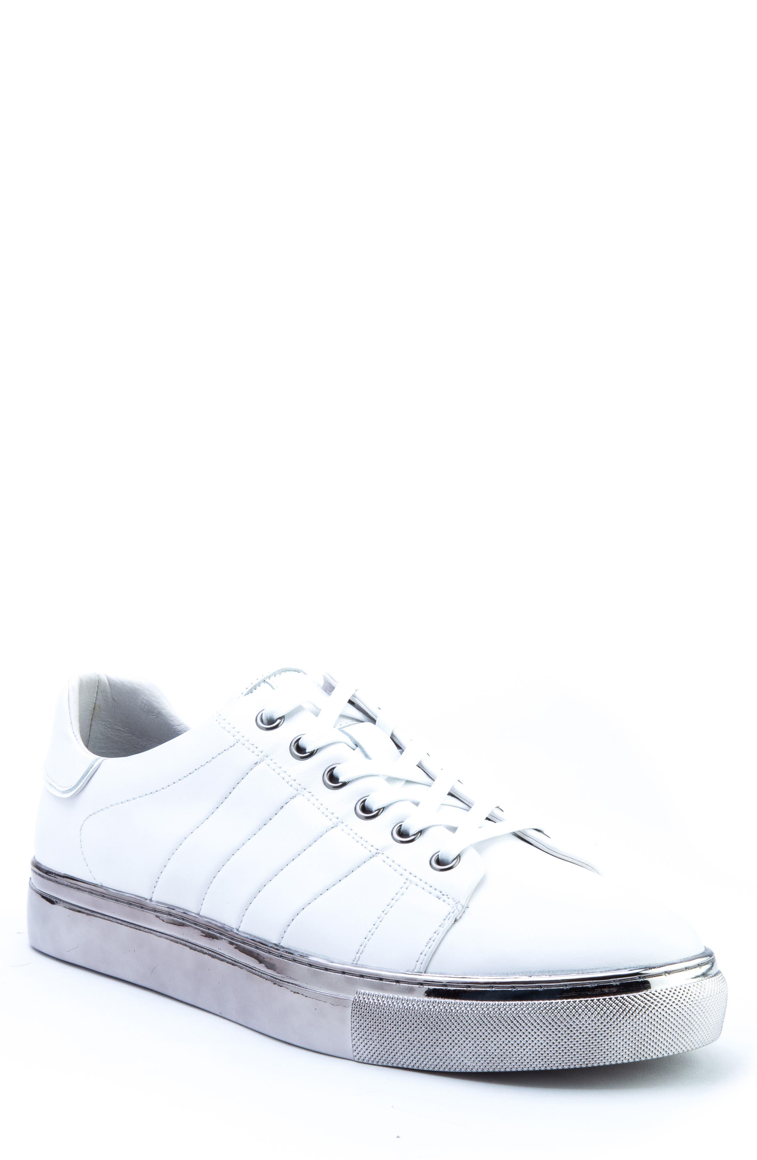 Badgley Mischka Brando Sneaker- White
