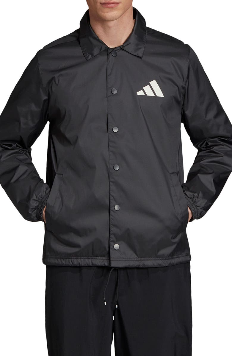 ADIDAS Athletics Pack Coach's Jacket, Main, color, BLACK