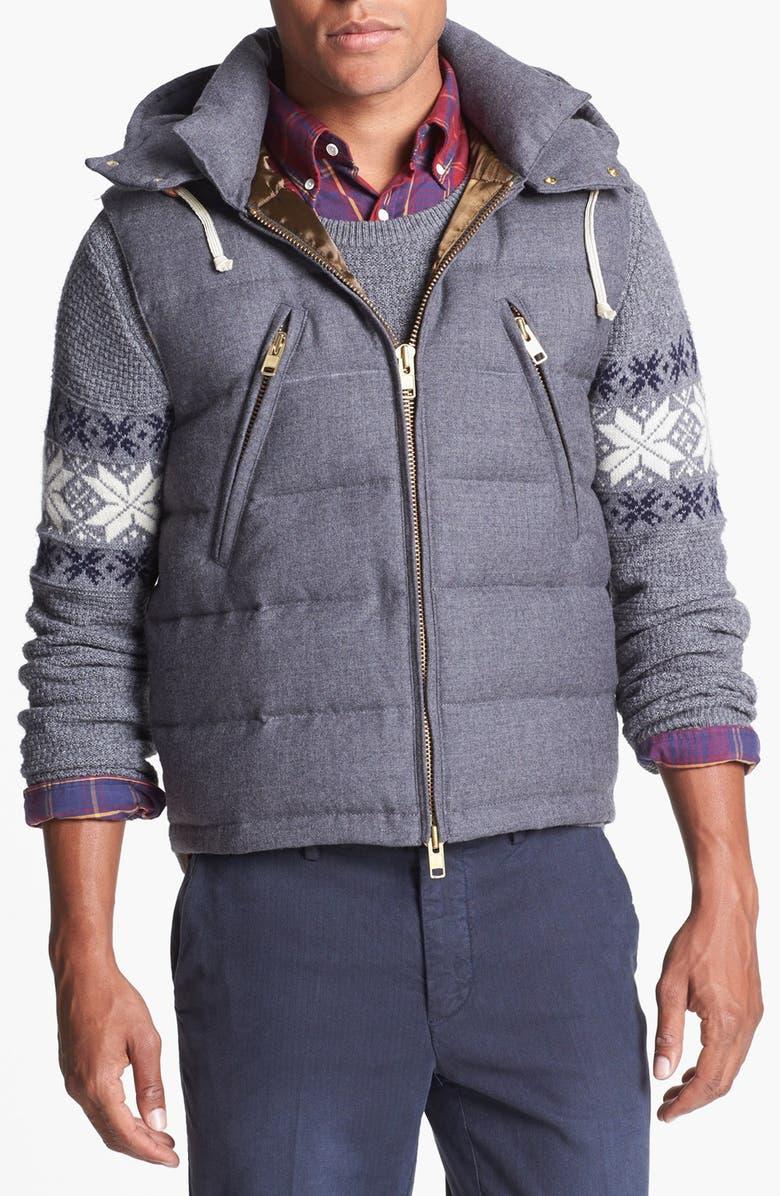 GANT RUGGER 'Traveller' Down Vest with Removable Hood, Main, color, 092