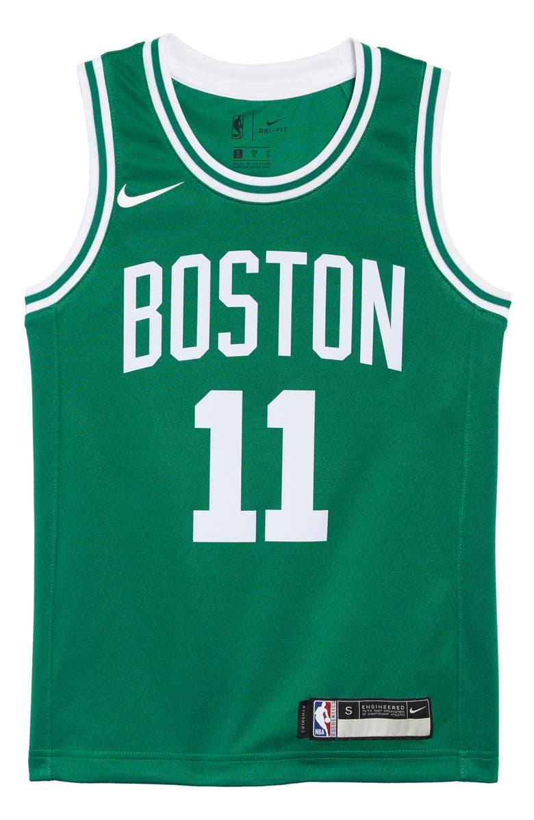 NIKE Boston Celtics Kyrie Irving Basketball Jersey, Main, color, CLOVER