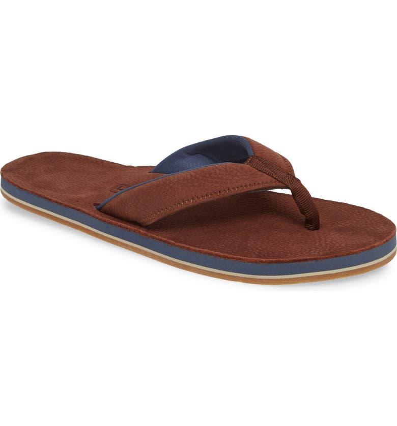 HARI MARI Piers Flip Flop, Main, color, BROWN LEATHER