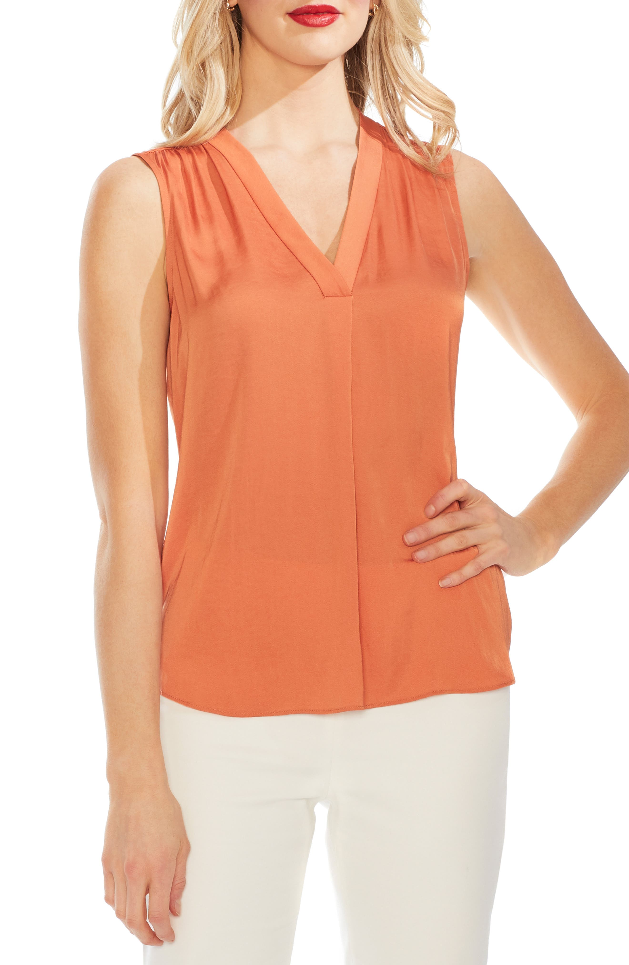 ,                             Rumpled Satin Blouse,                             Main thumbnail 86, color,                             827
