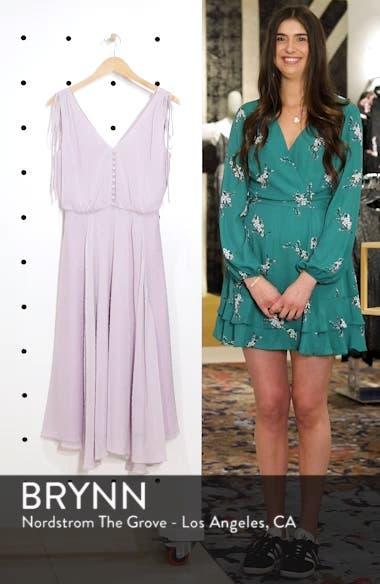Hilary Clip Dot Chiffon Midi Dress, sales video thumbnail