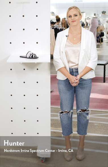Lindy Spike & Crystal Slide Sandal, sales video thumbnail