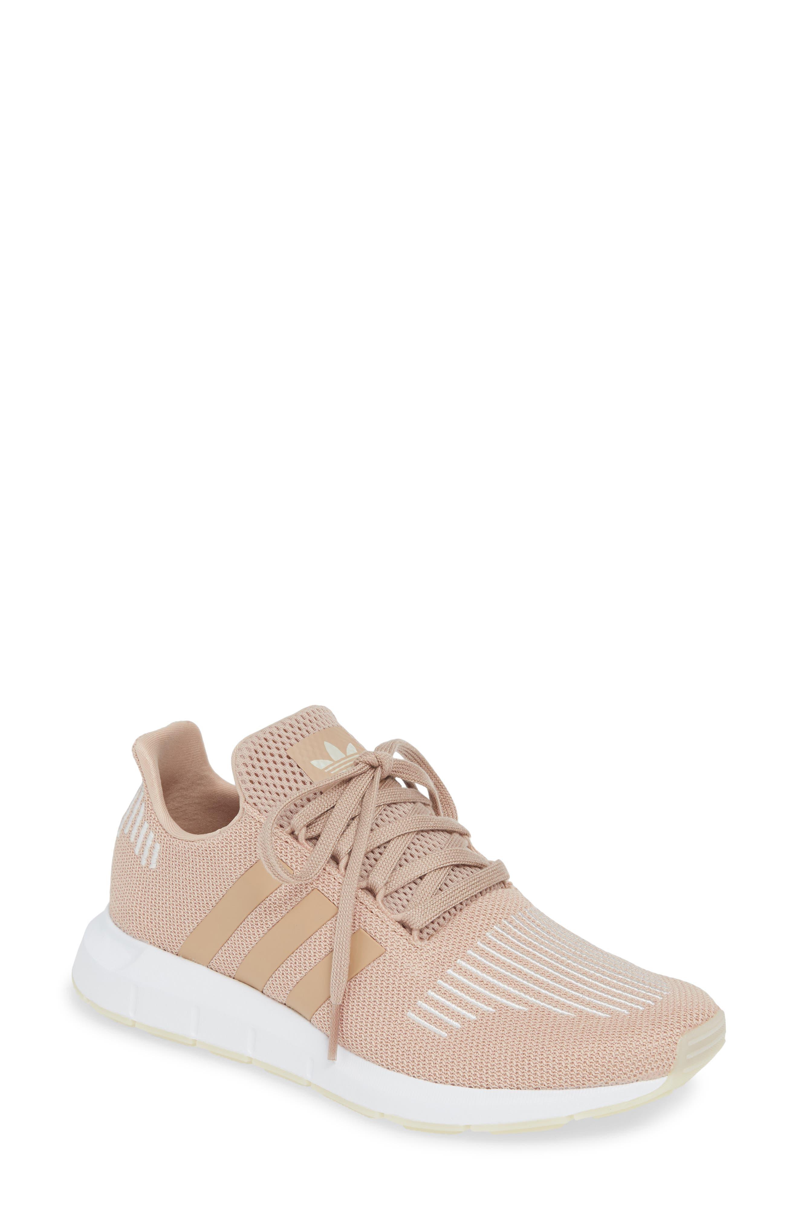 Swift Run Sneaker, Main, color, ASH PEARL/ OFF WHITE/ WHITE