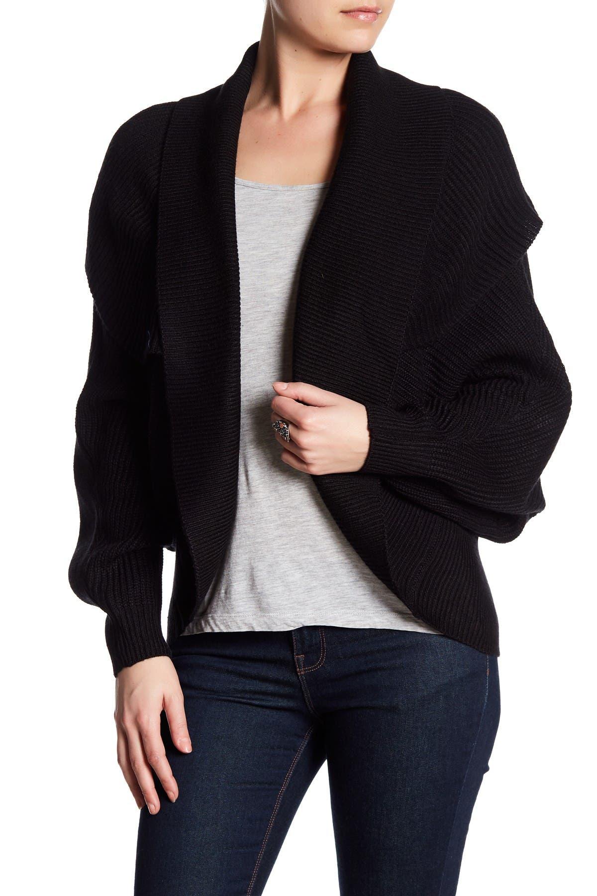 Image of Vertigo Rib Knit Cocoon Sweater