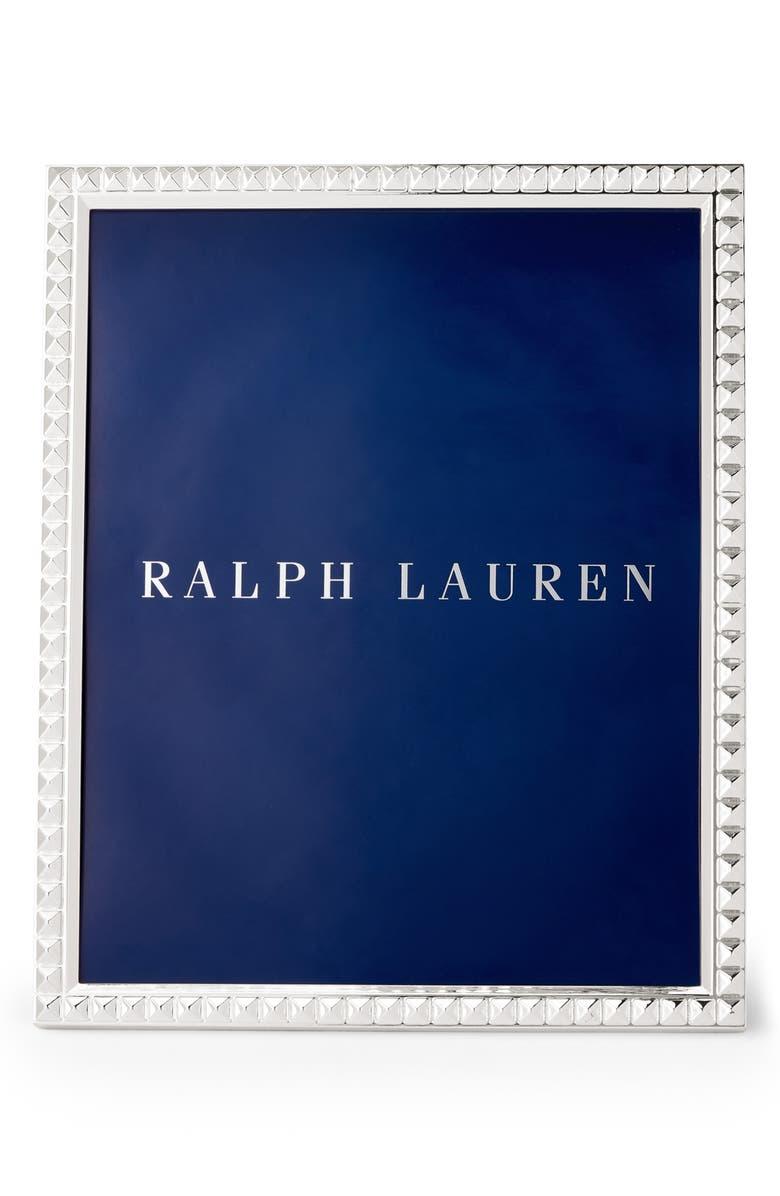 RALPH LAUREN Raina Picture Frame, Main, color, SILVER