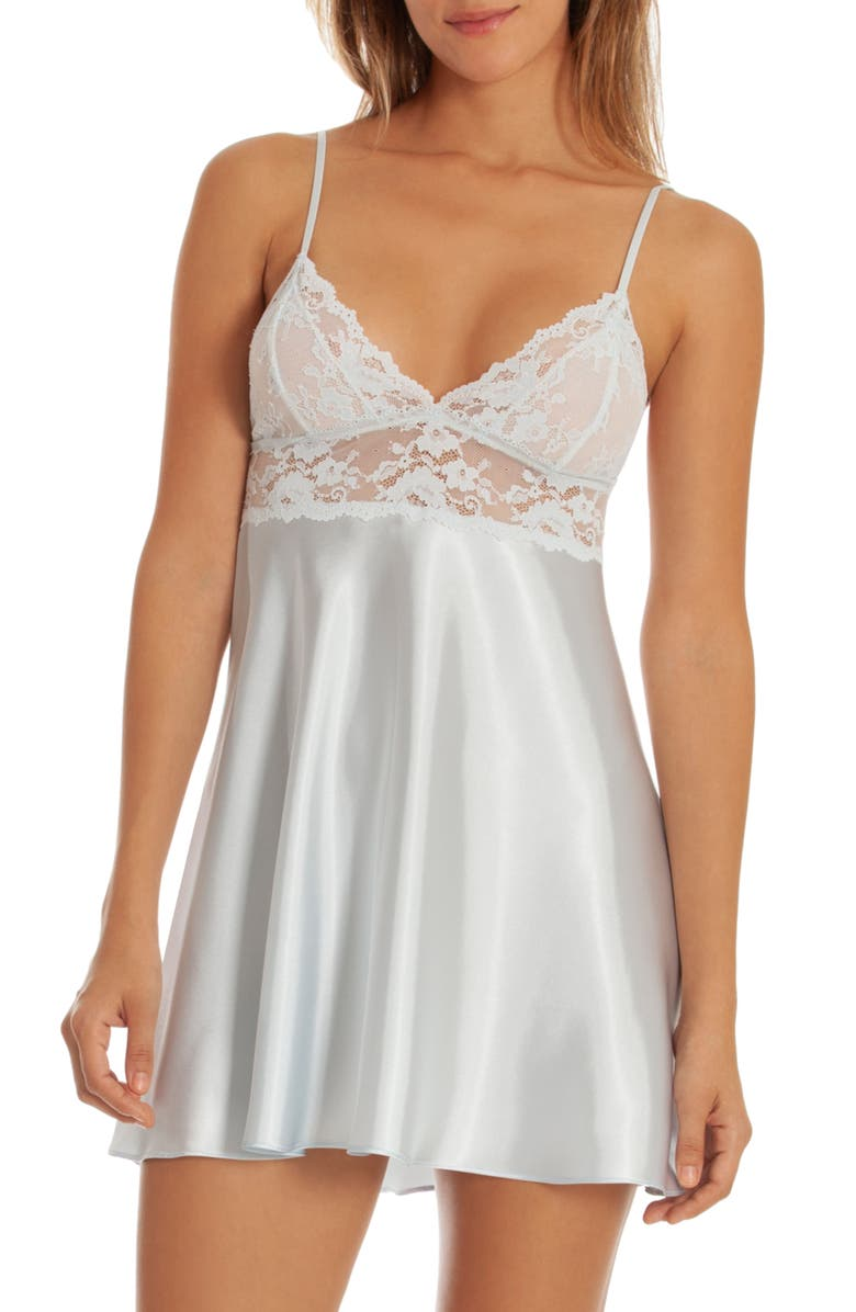 IN BLOOM BY JONQUIL Lace & Satin Chemise, Main, color, 400