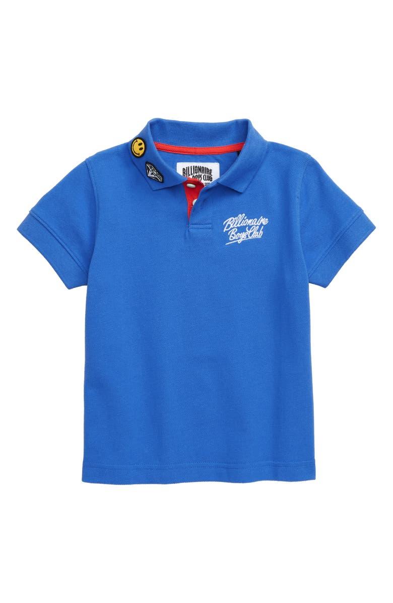 BILLIONAIRE BOYS CLUB Oli Embroidered Polo, Main, color, PALACE BLUE