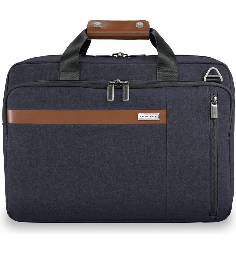 BRIGGS & RILEY Kinzie Street RFID Pocket Convertible Laptop Briefcase/Backpack, Main, color, NAVY
