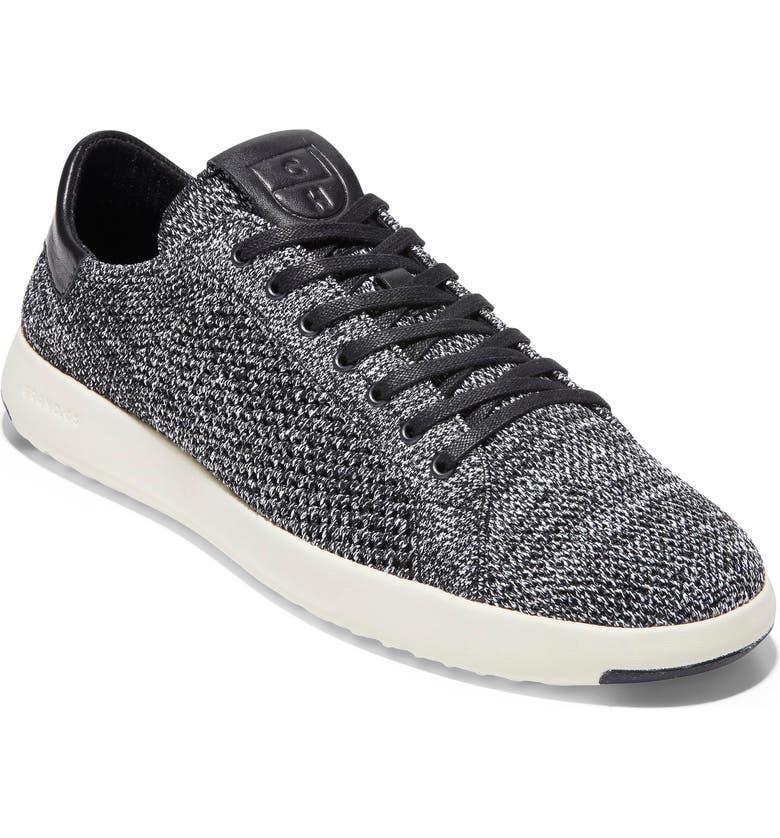 COLE HAAN GrandPro Tennis Stitchlite Sneaker, Main, color, BLACK/ WHITE/ GREY STITCHLITE