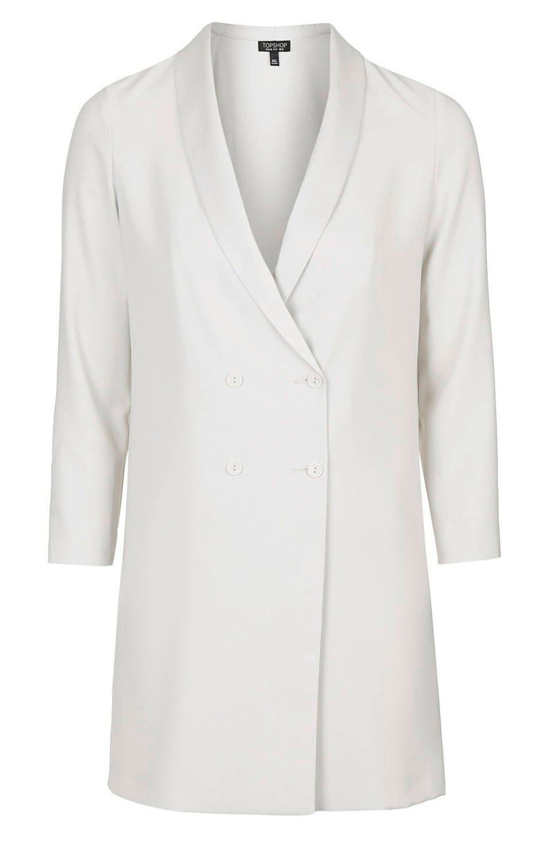 ,                             Slouchy Longline Blazer,                             Alternate thumbnail 5, color,                             100