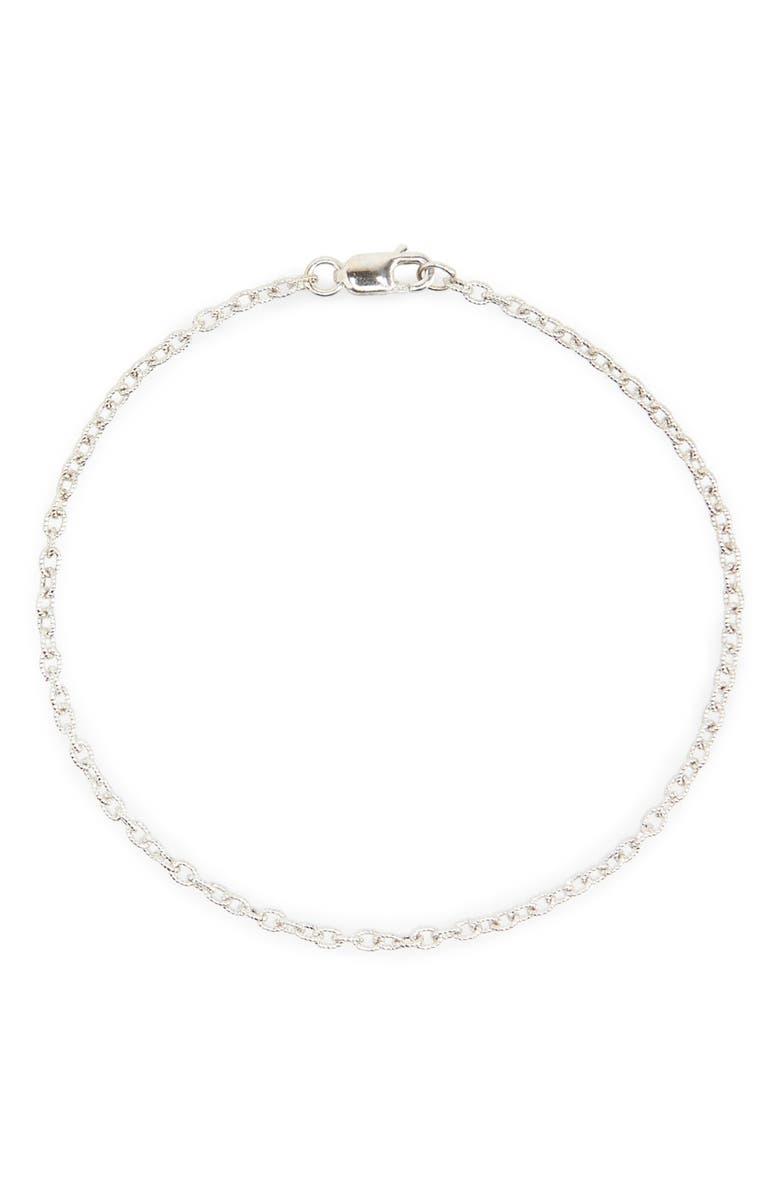BONY LEVY Etched Link Bracelet, Main, color, WHITE GOLD