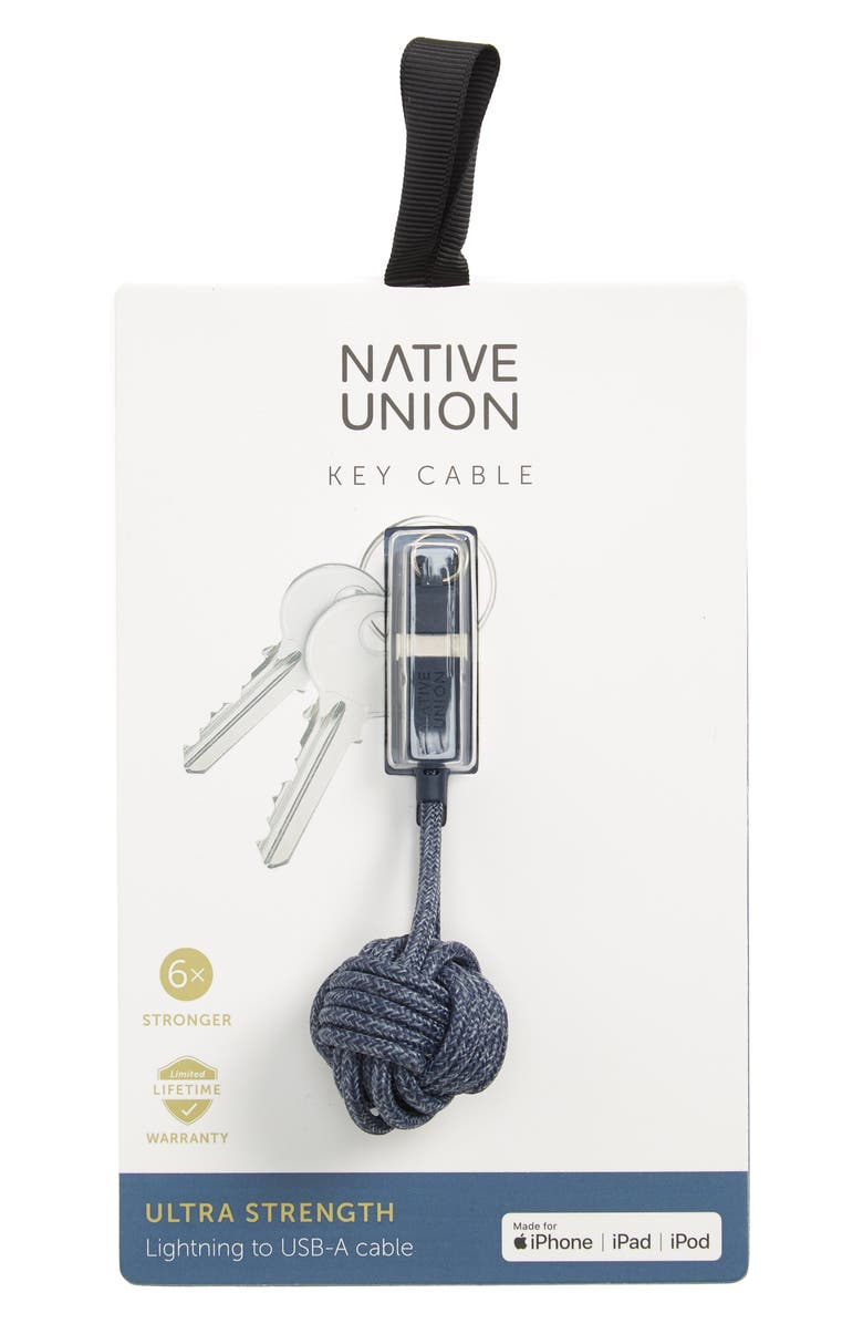 NATIVE UNION Lightning Cable Key Chain, Main, color, 410
