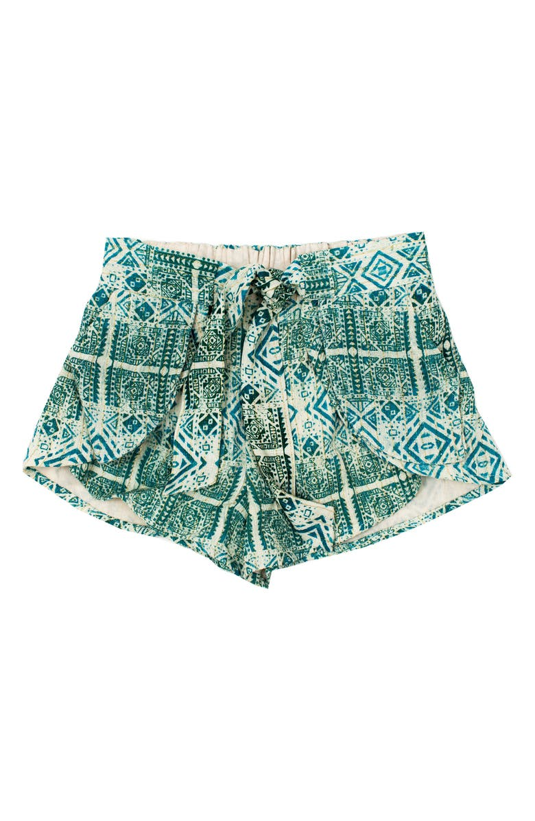 BOWIE X JAMES Eclipse Print Shorts, Main, color, SILVER PRINT