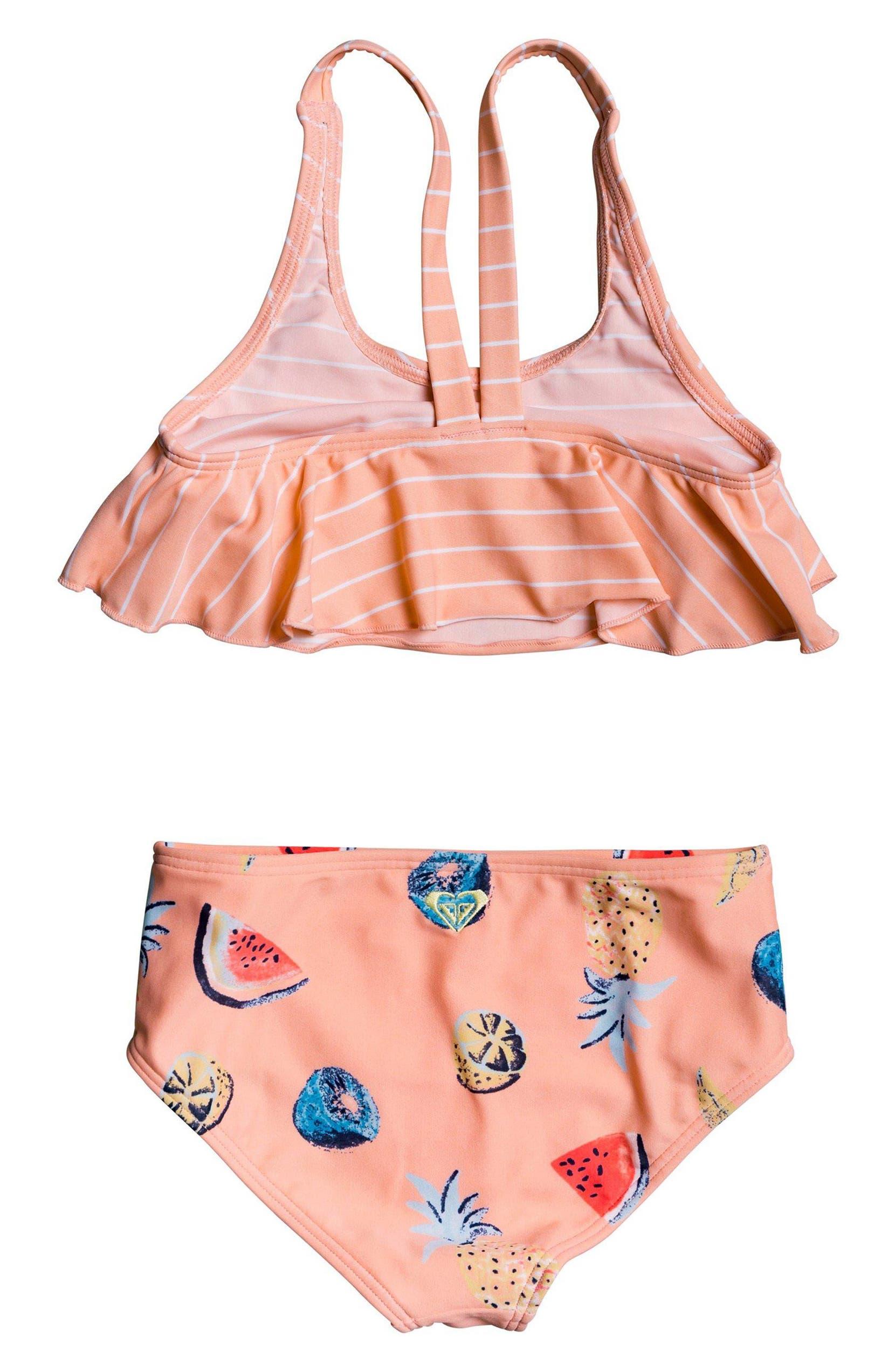 c64929d9d2118 Roxy Splashing You Flutter Two-Piece Swimsuit (Toddler Girls & Little  Girls) | Nordstrom