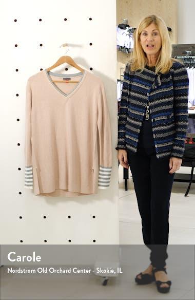 V-Neck Stripe Cuff Sweater, sales video thumbnail