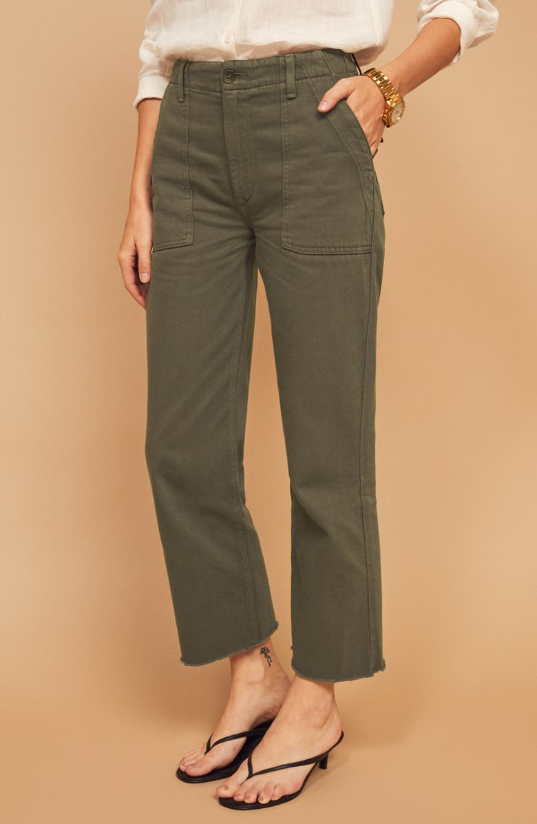 REFORMATION Utility Pants, Main, color, ARMY
