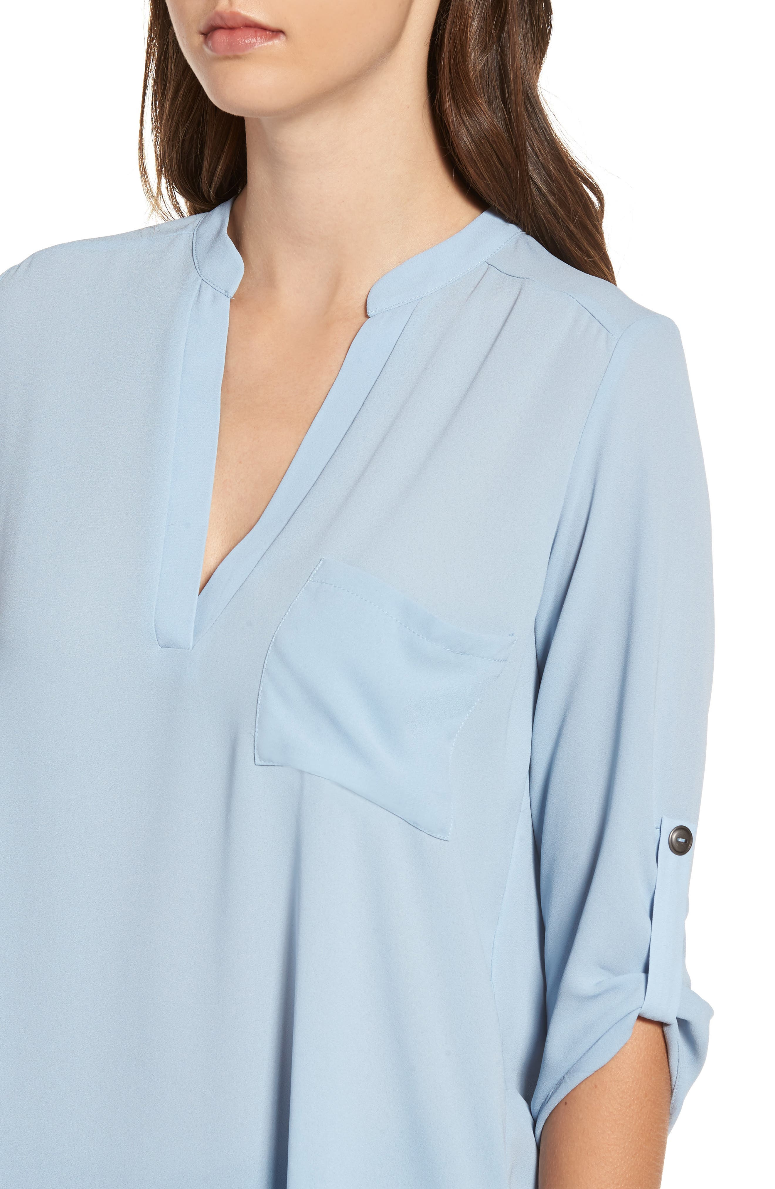 ,                             Perfect Roll Tab Sleeve Tunic,                             Alternate thumbnail 101, color,                             433