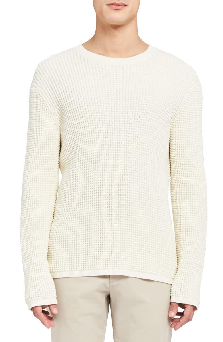 THEORY Phanos Crewneck Sweater, Main, color, OFF WHITE