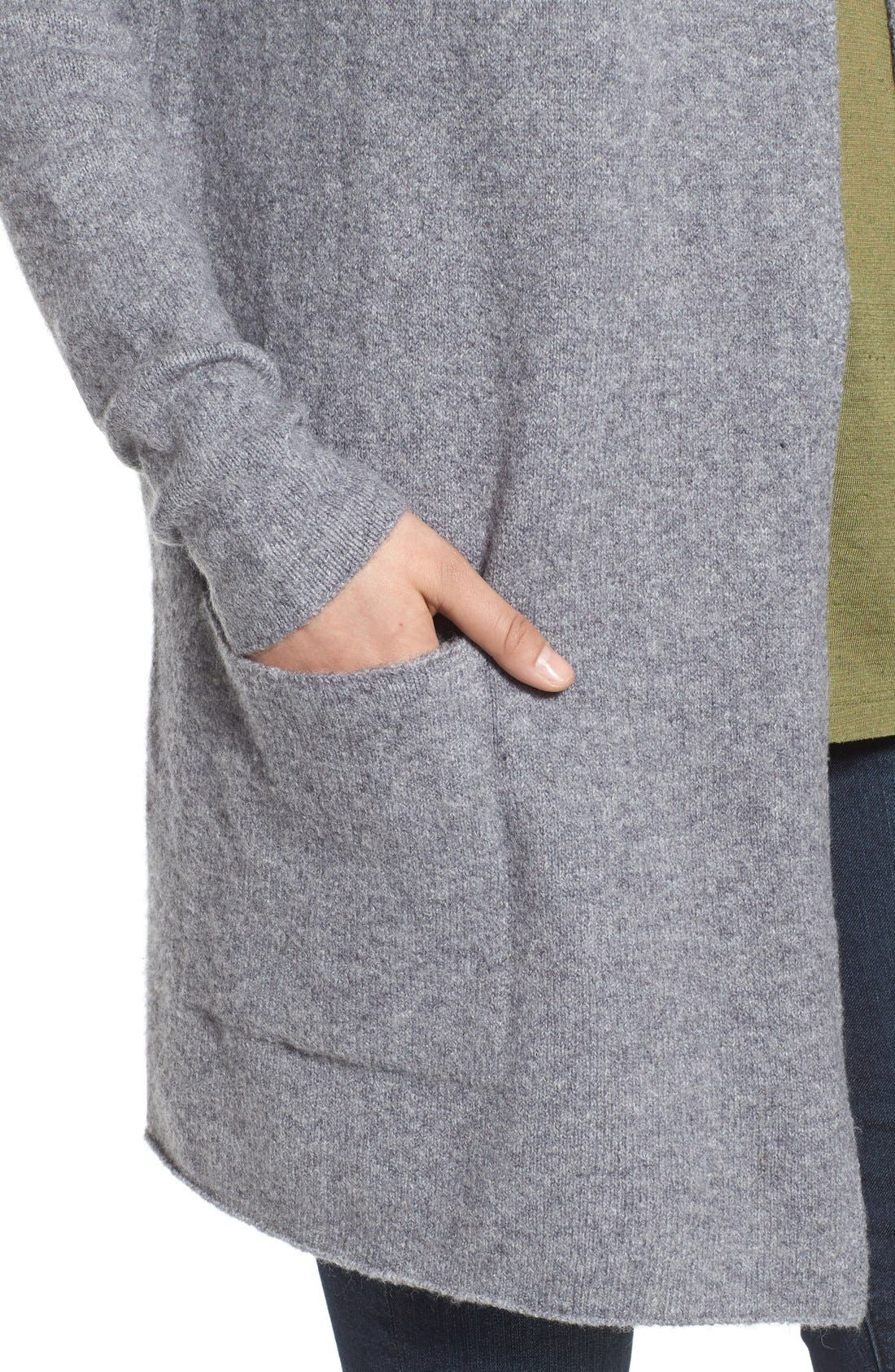 ,                             Hooded Longline Cardigan,                             Alternate thumbnail 5, color,                             030