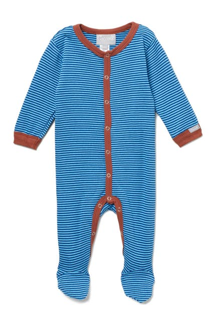 Image of Coccoli Striped Footie Bodysuit