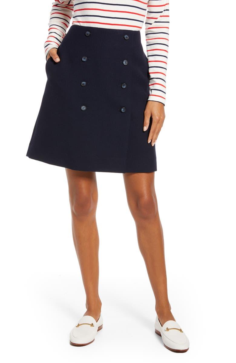 1901 Double Button Skirt, Main, color, 410