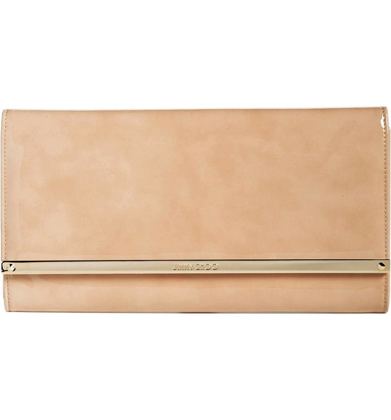 JIMMY CHOO 'Large Maia' Patent Leather Clutch, Main, color, 250