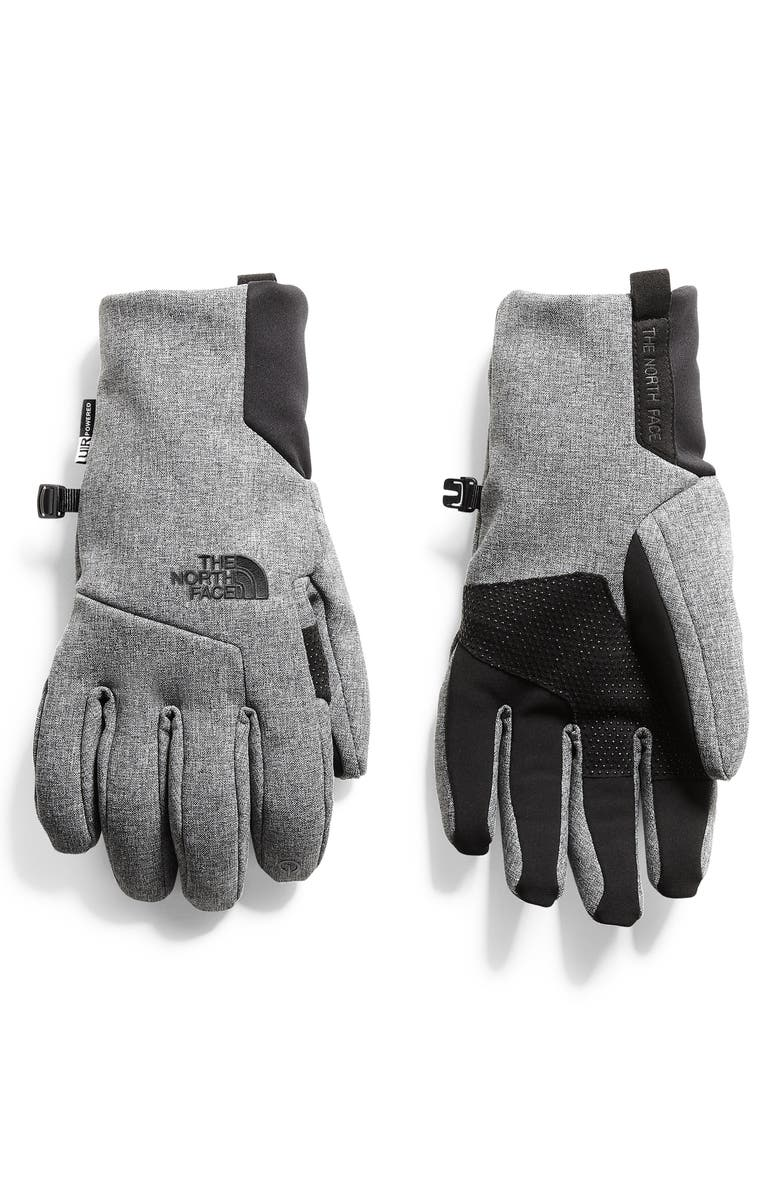 THE NORTH FACE Etip Apex Gloves, Main, color, MEDIUM GREY HEATHER
