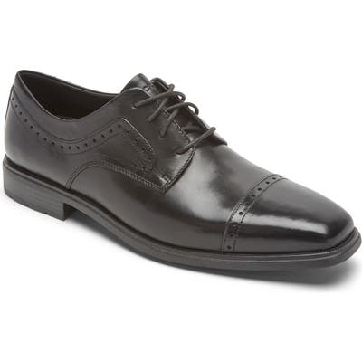 Rockport Dressports Business 2 Cap Toe Derby- Black