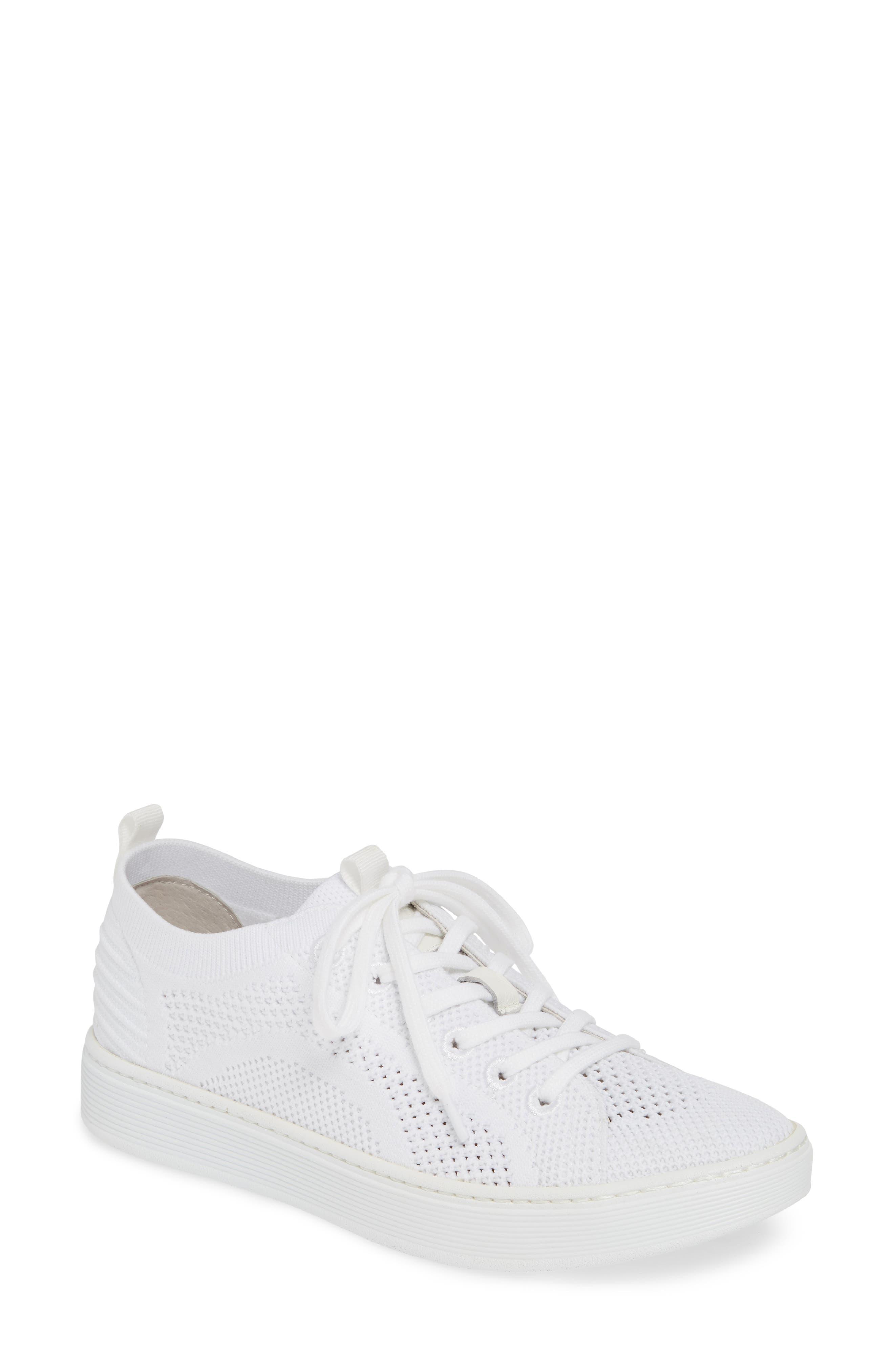 Sofft Somers Knit Sneaker- White