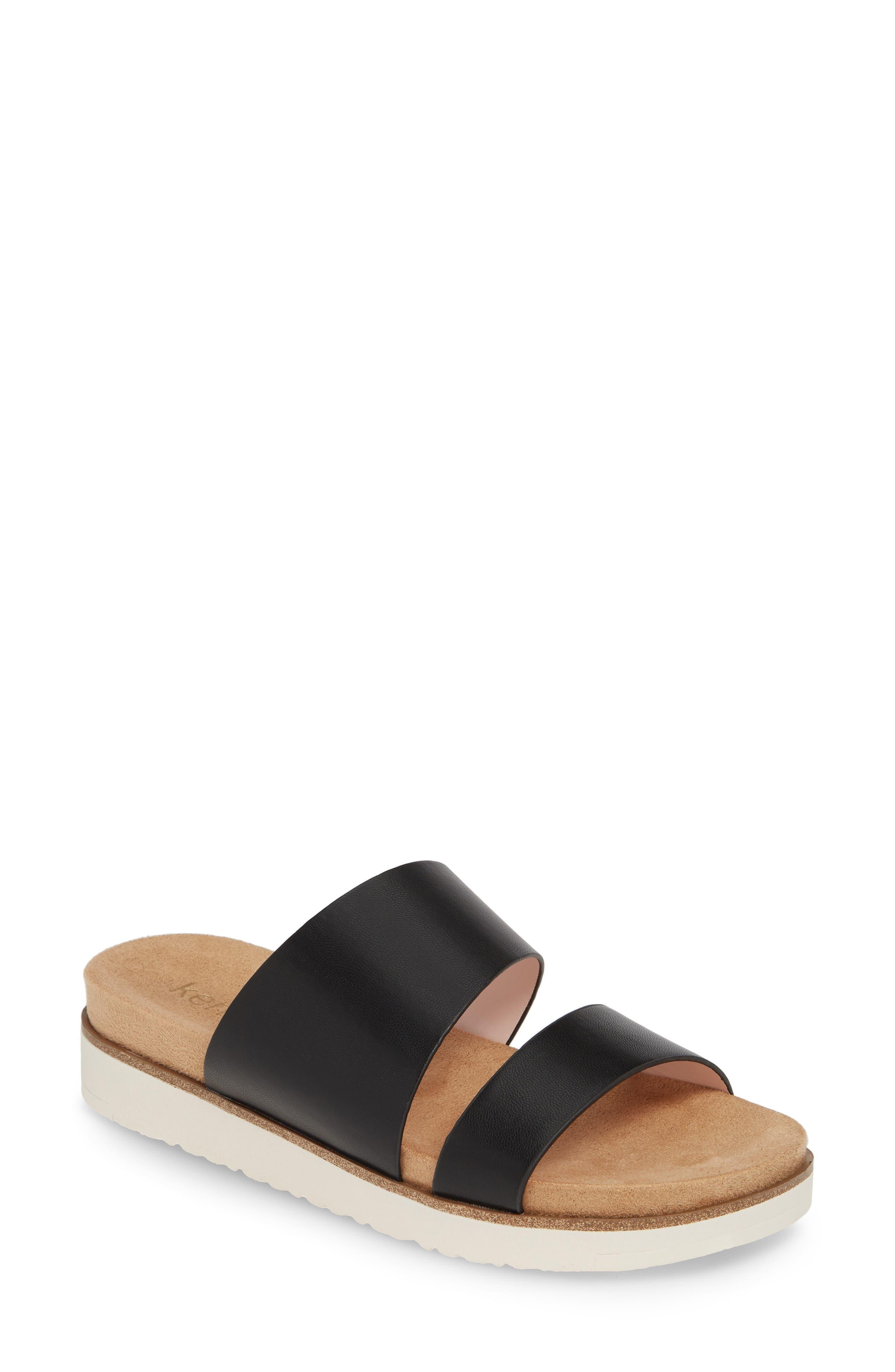,                             Danesha Slide Sandal,                             Main thumbnail 1, color,                             BLACK