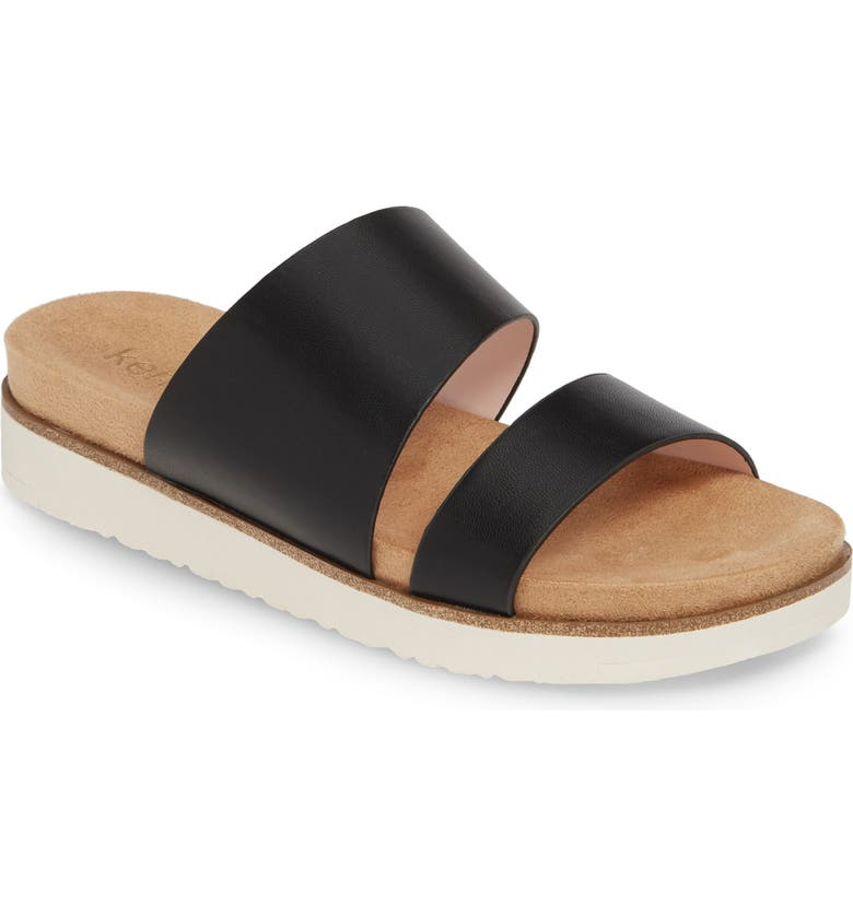 KENSIE Danesha Slide Sandal, Main, color, BLACK