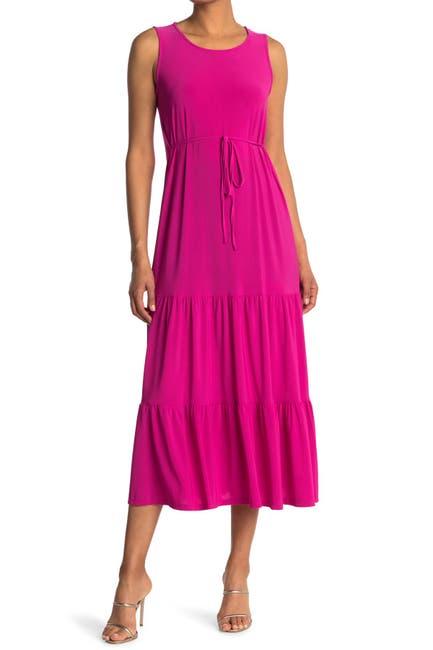 Image of TASH + SOPHIE Sleeveless Tiered Midi Dress