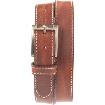 Tommy Bahama Leather Belt, Brown