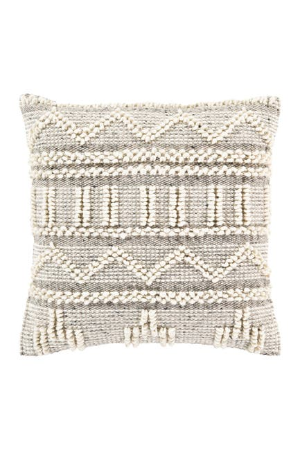 Image of SURYA HOME Cream Faroe Bohemian Throw Pillow