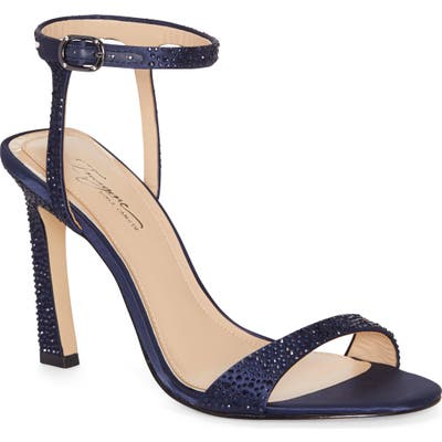 Imagine By Vince Camuto Reshi 2 Embellished Ankle Strap Sandal- Blue