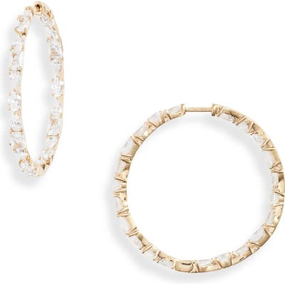 Nadri Gala Inside Out Cubic Zirconia Hoop Earrings