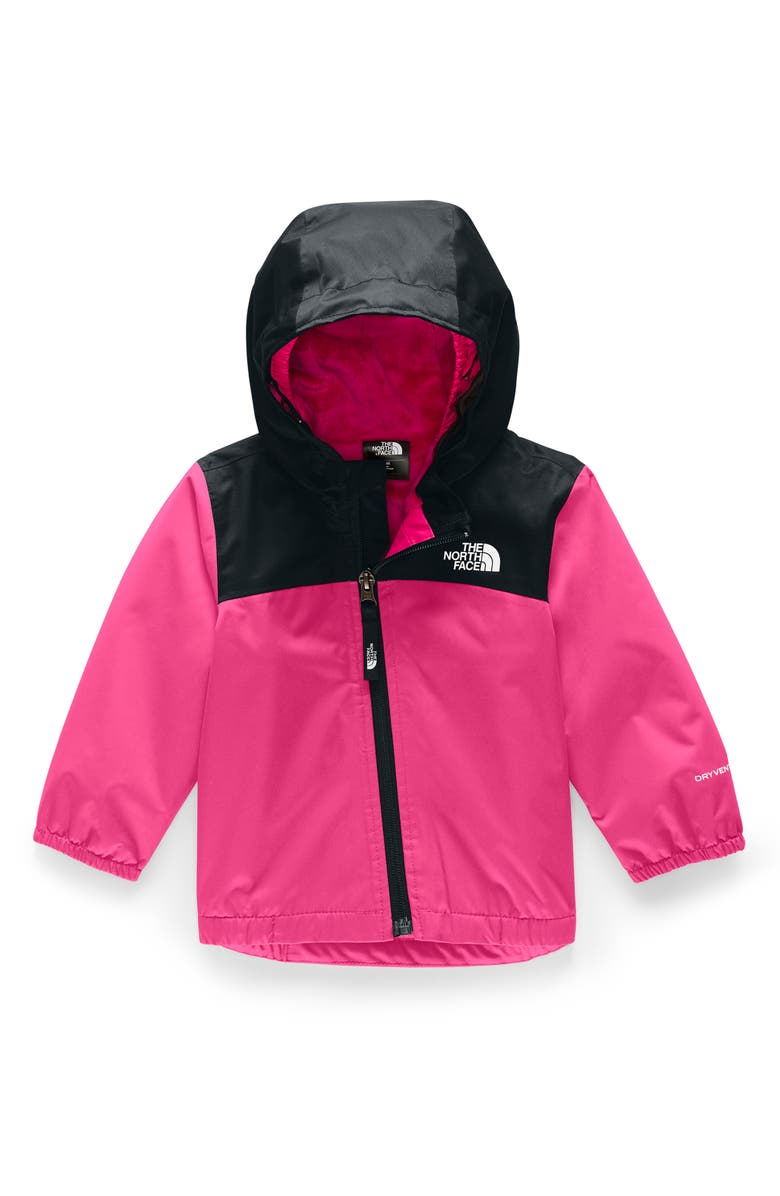 THE NORTH FACE Warm Storm Hooded Waterproof Jacket, Main, color, MR. PINK